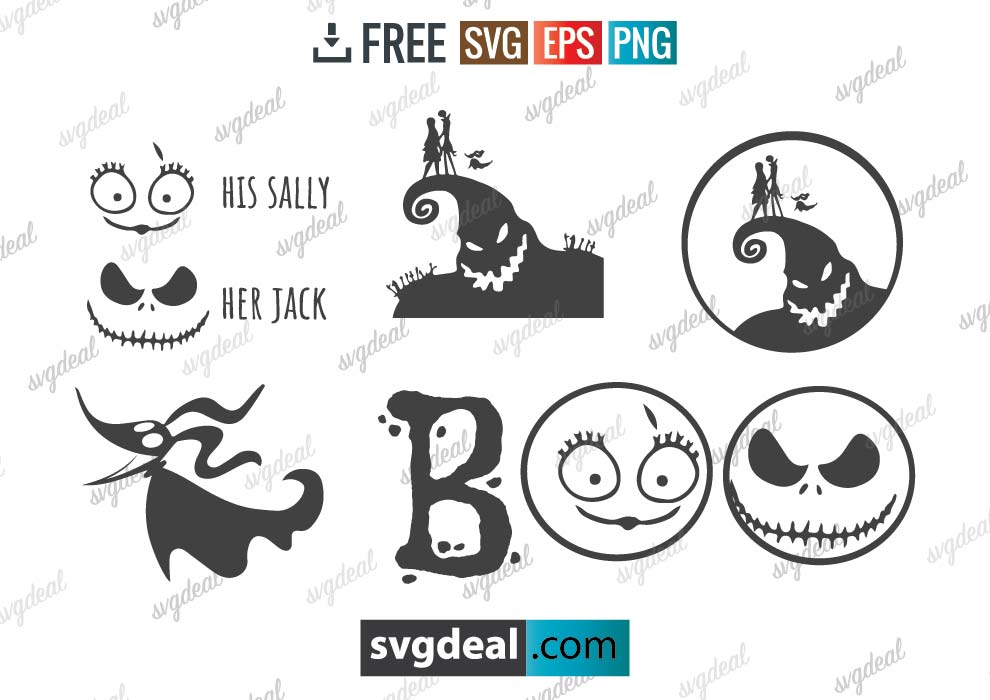 Nightmare Before Christmas SVG Bundle Free Download