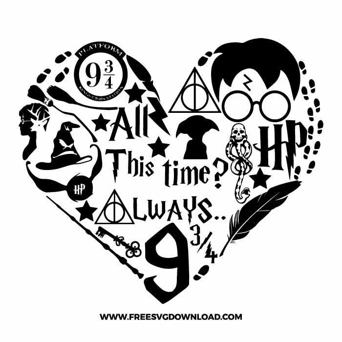 Harry Potter SVG & PNG Free Cut Files