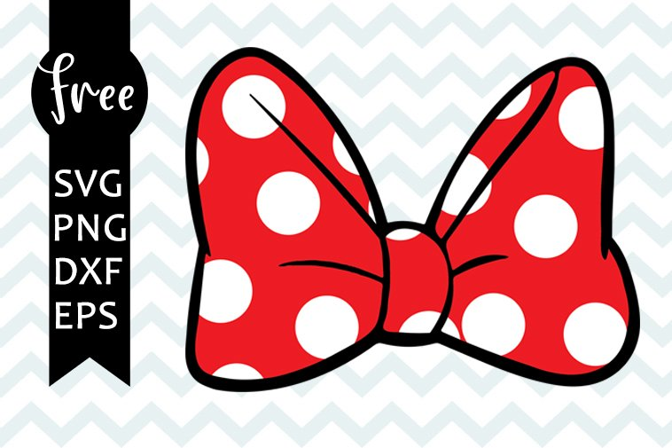 Free Minnie mouse bow SVG PNG EPS DXF