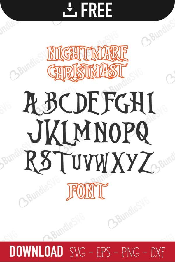 Nightmare Before Christmas Font SVG, Alphabet SVG, Font Disney SVG