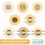 Sunflower SVG Free