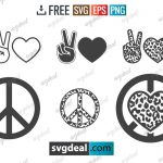Peace Sign SVG Bundle Free Download