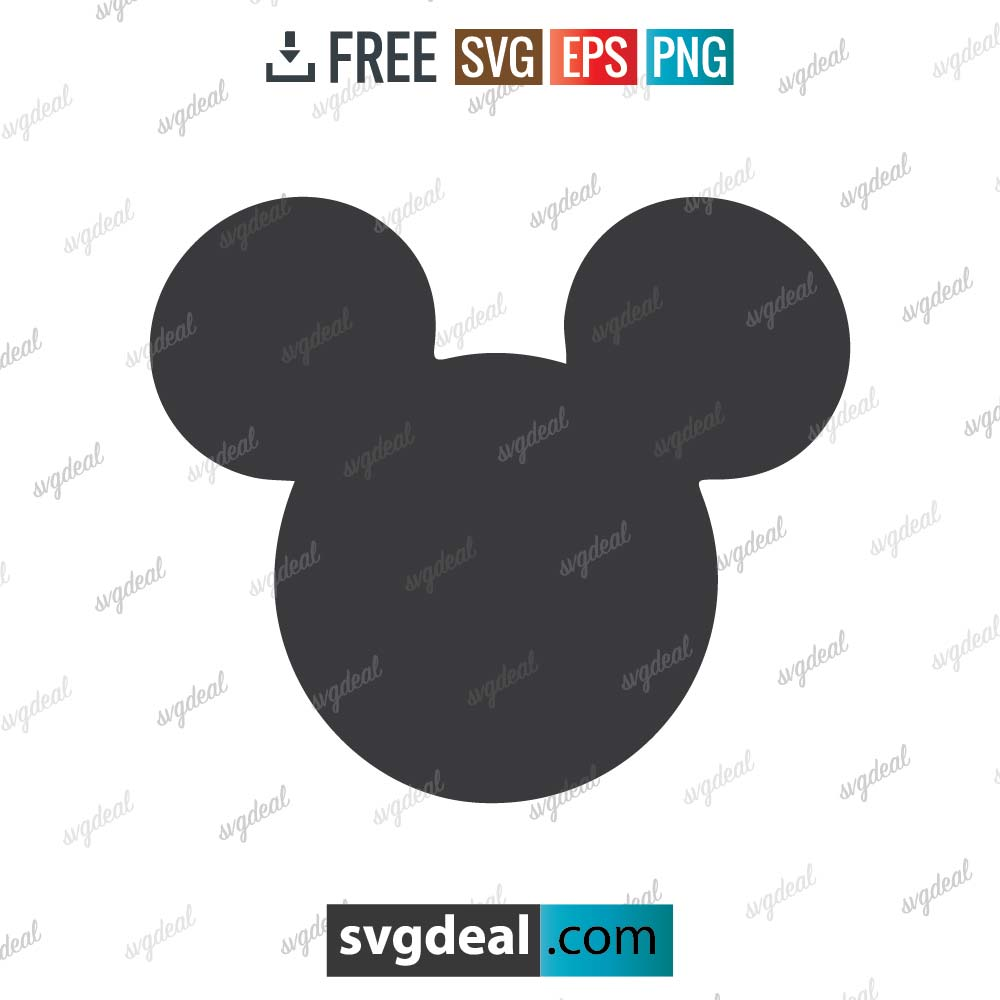 Mickey Mouse svg, Mickey svg, Disney, Disney svg, silhouette, digital download, free vector files, free cut file, cutting files – 2901