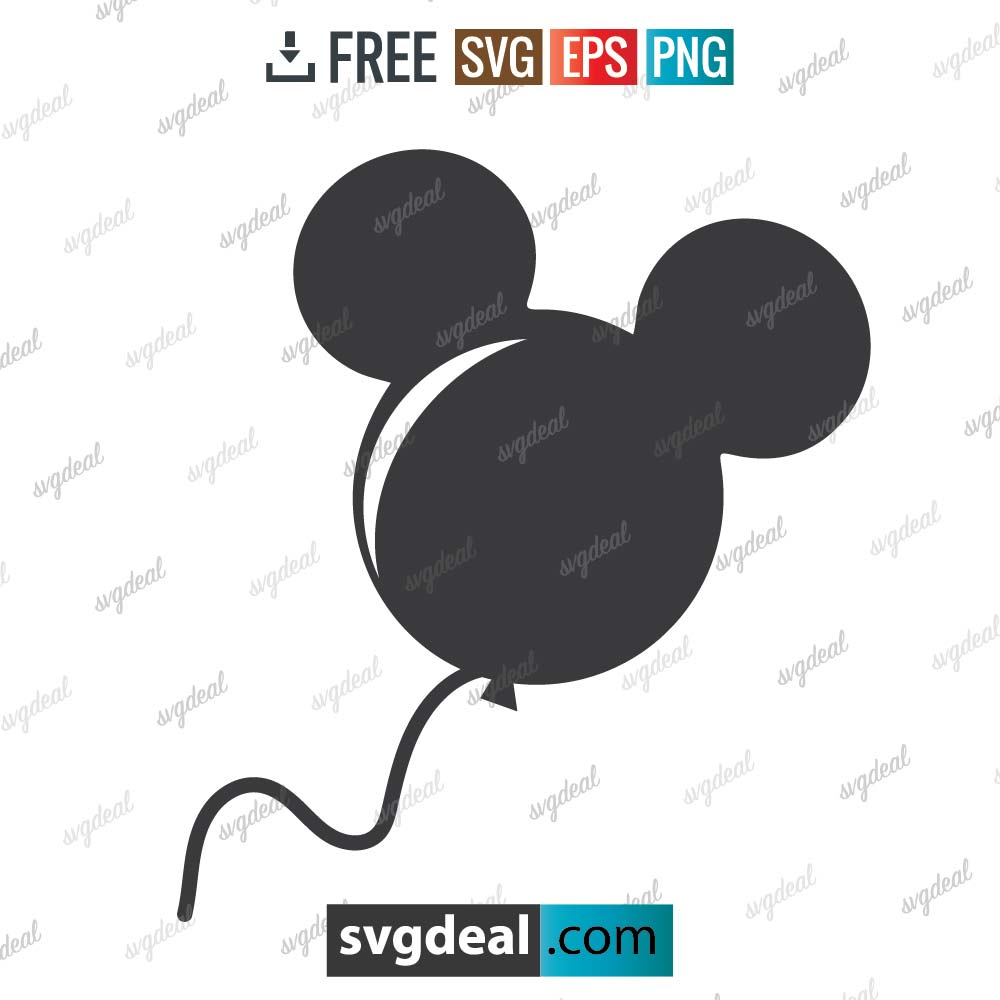Mickey Mouse svg, Mickey mouse balloon svg, silhouette, digital download, free vector files, free cut file, cutting files – 2904