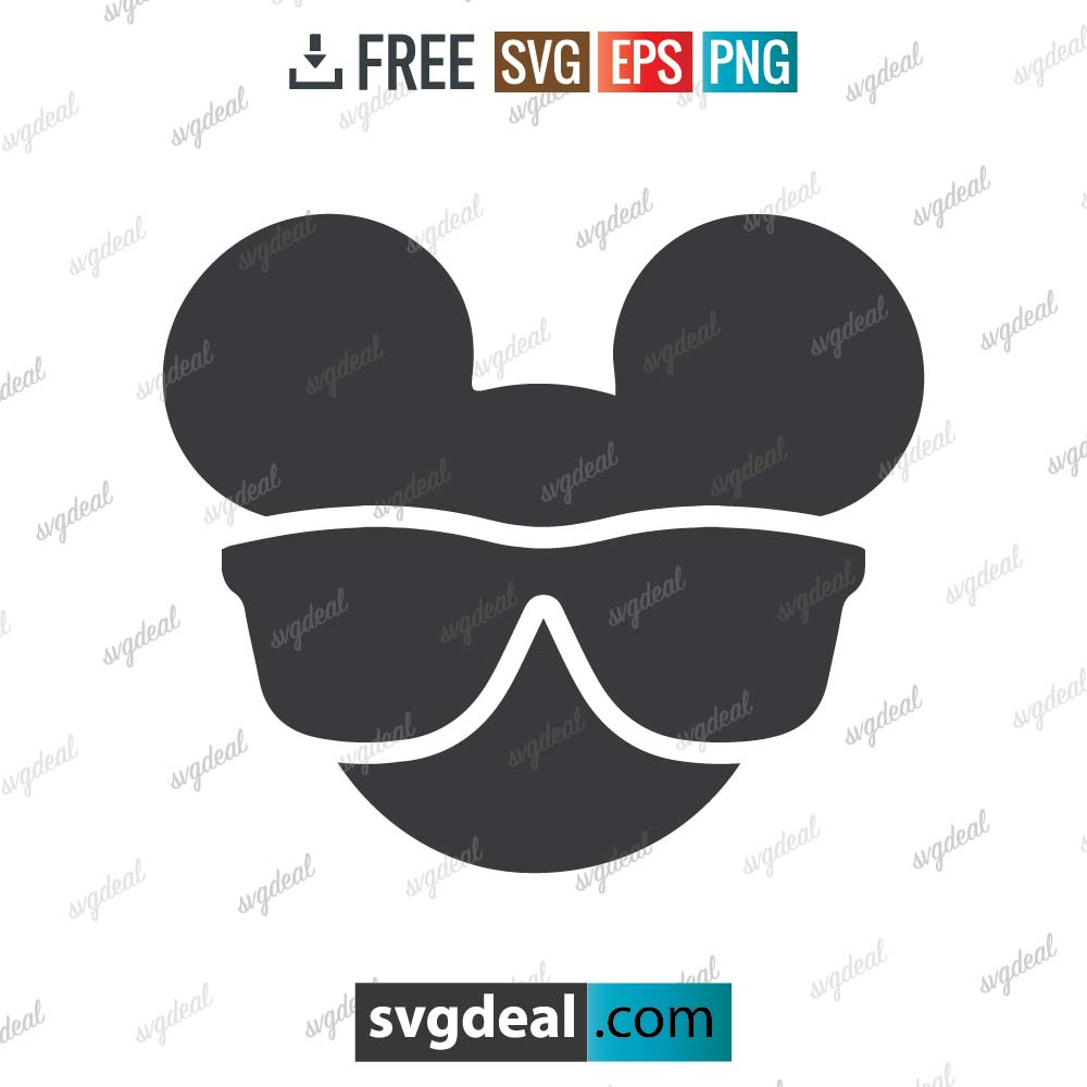 Mickey Mouse svg, Mickey mouse, silhouette, digital download, free vector files, free cut file, cutting files – 2908