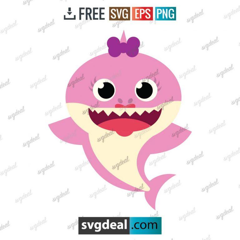 baby shark svg, baby shark vector, shark cartoon