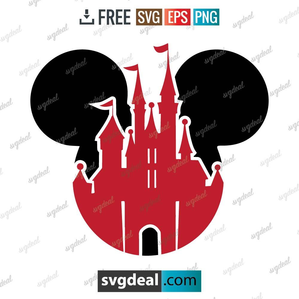 Disney castle svg, mickey head disney castle clipart svg, Head Mickey mouse, magic kingdom svg