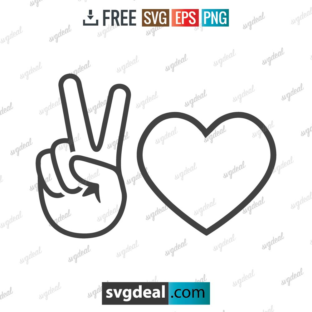 Hand peace sign svg, peace sign svg, love sign svg, peace and love sign,free svg files