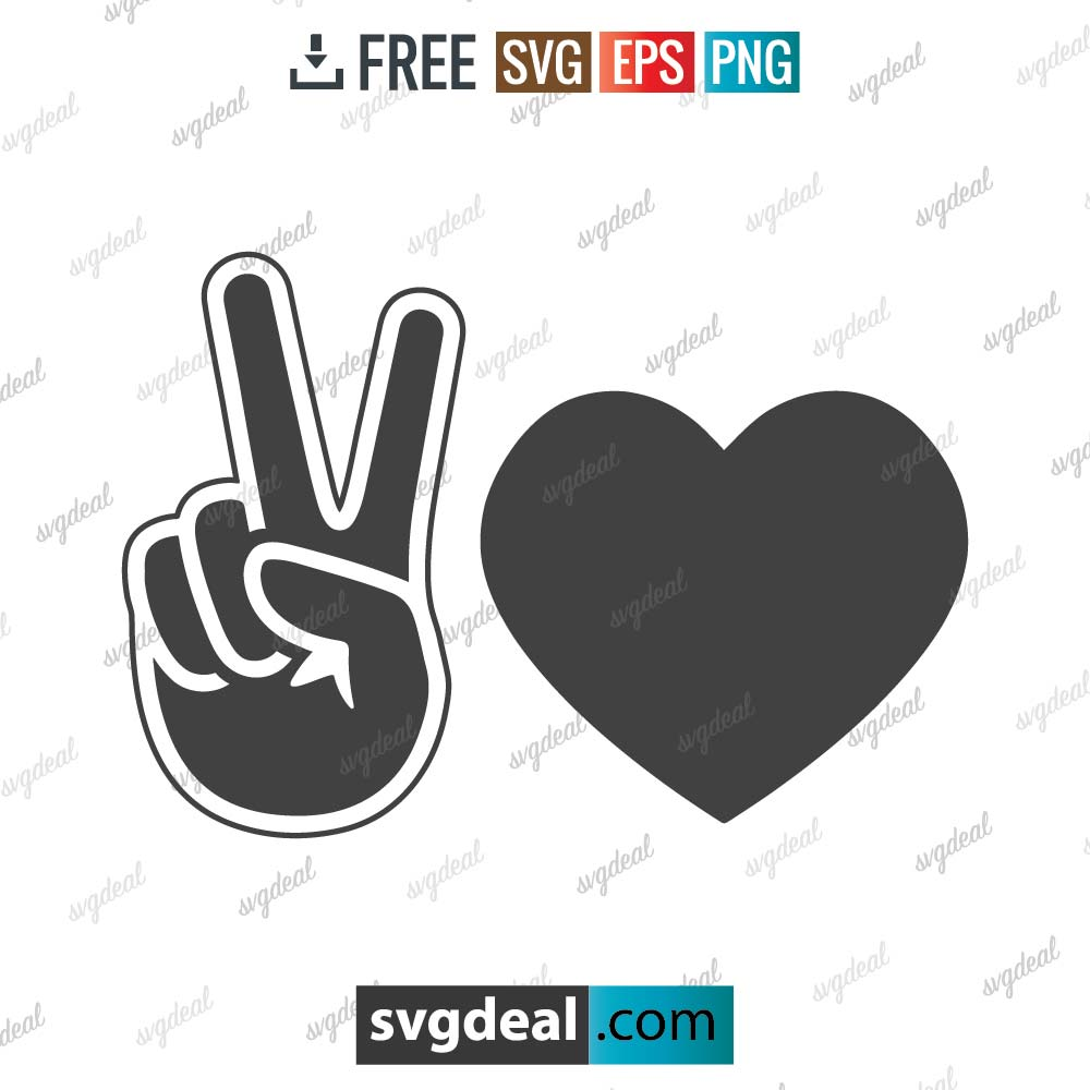 Hand peace sign svg, peace sign and love sign svg, peace and love sign,free svg files