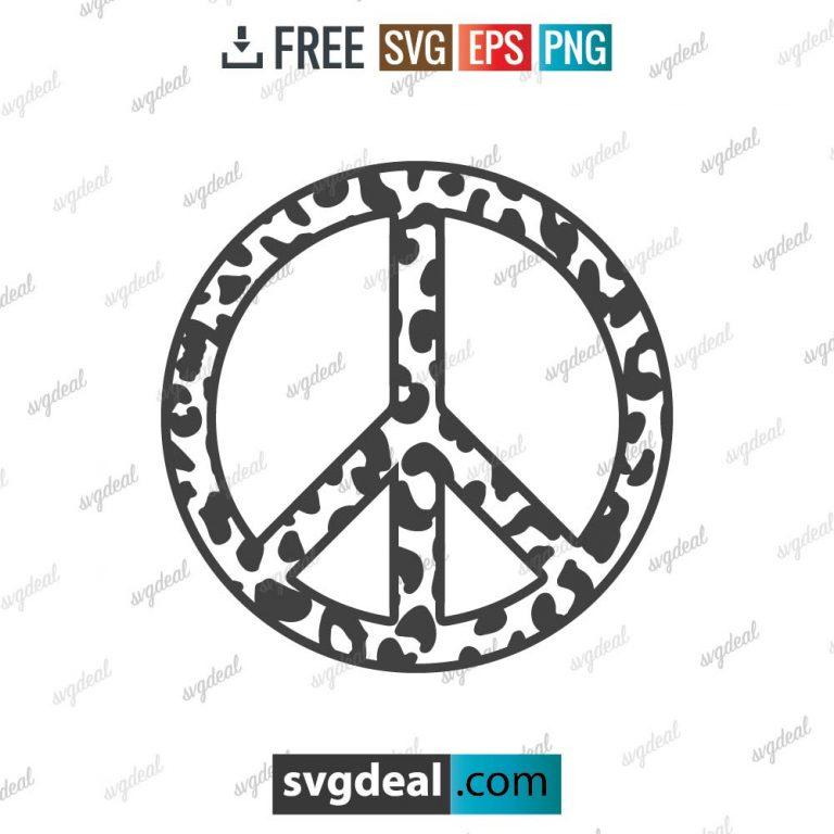 Peace Sign Leopard SVG Files