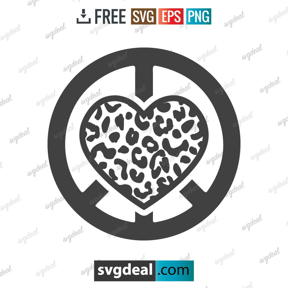 Peace Sign and Love Leopard SVG Files