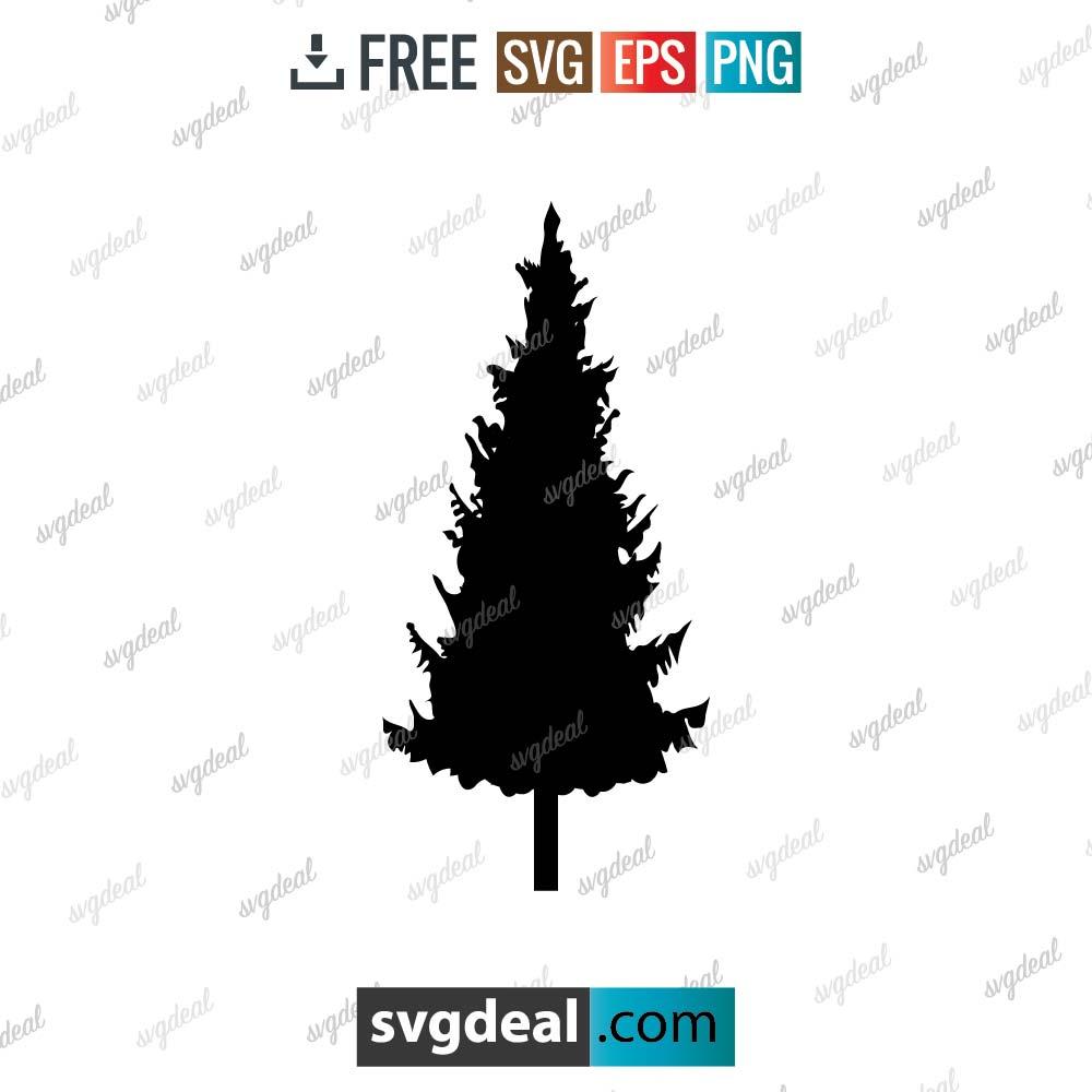 Pine Tree Svg, pine tree outline svg, Tree Clip Art Pack, Tree Design Sublimation – 1403