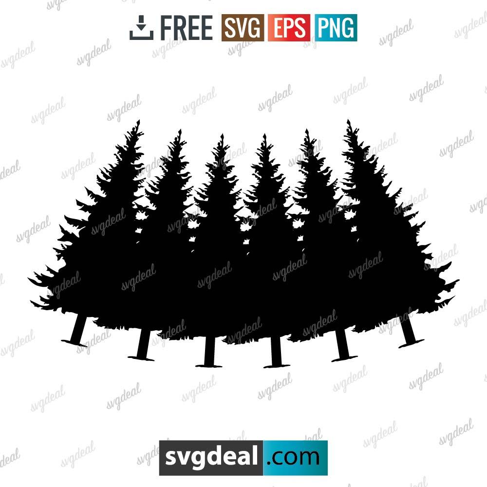 Pine Tree Svg, pine tree svg file, Tree Clip Art Pack, Tree Design Sublimation – 1406