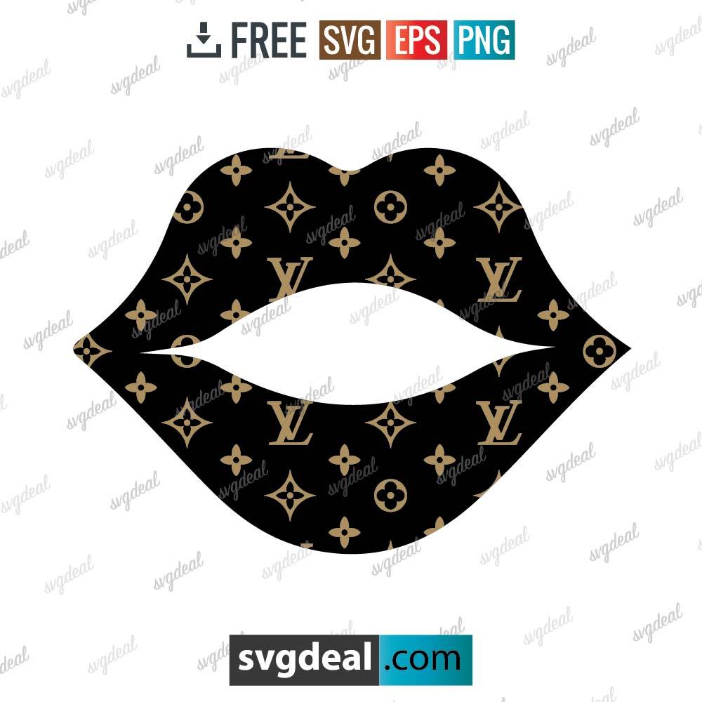 Louis Vuitton SVG, louis vuitton lips svg free download, louis vuitton for cricut – 1602