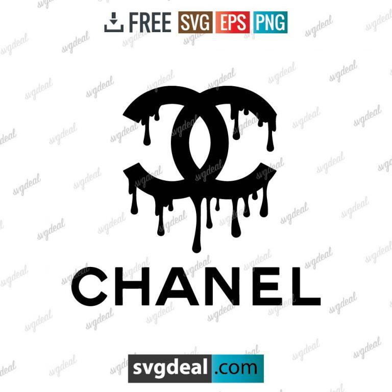dripping chanel logo svg