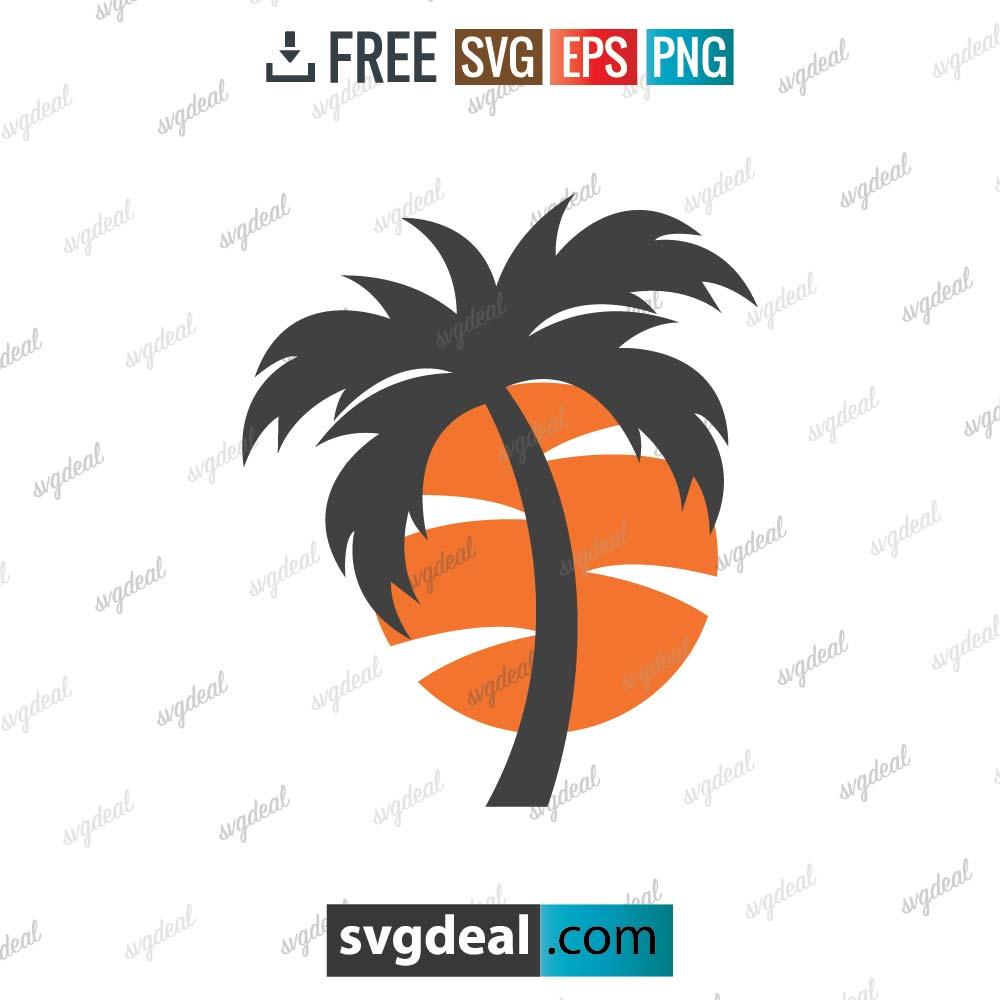 Sunset SVG Palm Tree